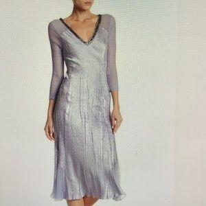 Sequined  V-Neck Midi Dress